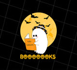 Booooooks boo read books halloween, PNG Printable