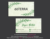 Doterra Business Cards, Personalzied Doterra Essential Oils Card DT14