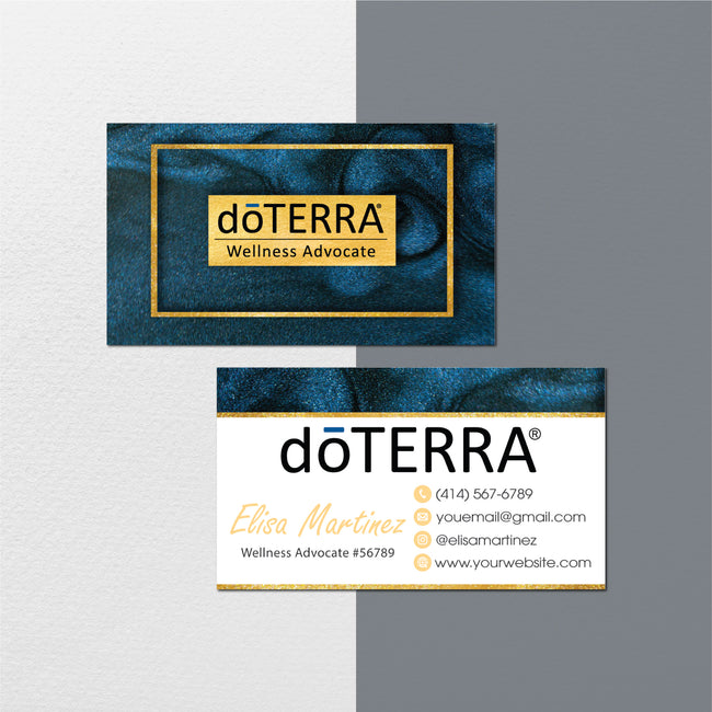 Glitter Doterra Business Cards, Personalzied Doterra Essential Oils Card DT115
