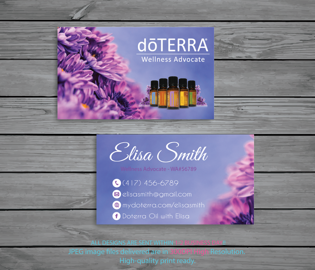 Doterra Business Cards, Personalzied Doterra Essential Oils Card DT63