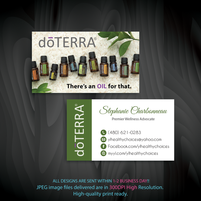 Doterra Business Cards, Personalzied Doterra Essential Oils Card DT99