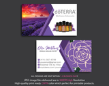 Doterra Business Cards, Personalzied Doterra Essential Oils Card DT48