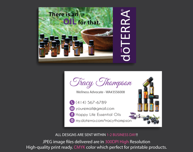 Doterra Business Cards, Personalzied Doterra Essential Oils Card DT51
