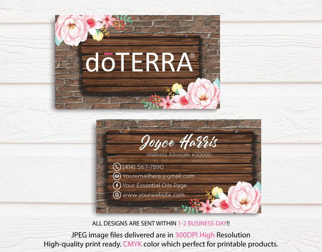 Doterra Business Cards, Personalzied Doterra Essential Oils Card DT18