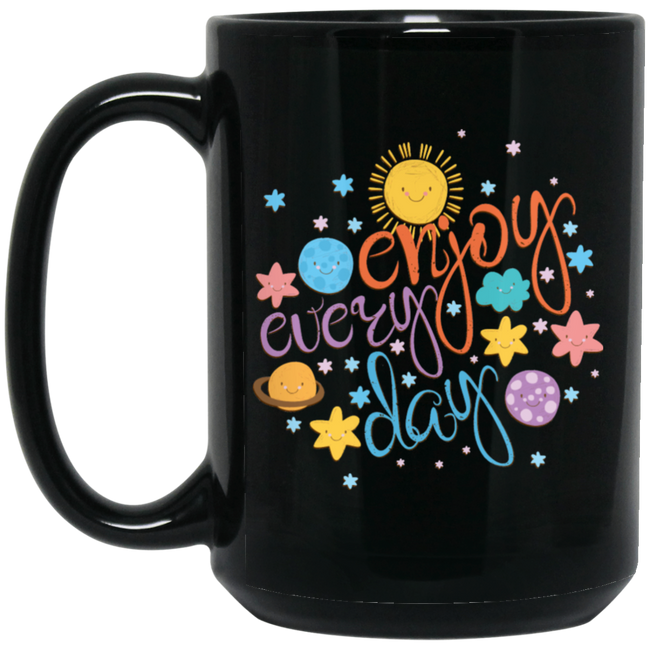 Cool Colorful Motivational Quote With Space Black Mug