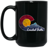 Crested Butte Colorado With Flag Inspired Scene