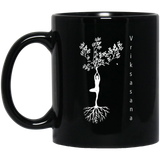 Tree pose, Yoga Tree Black Mug