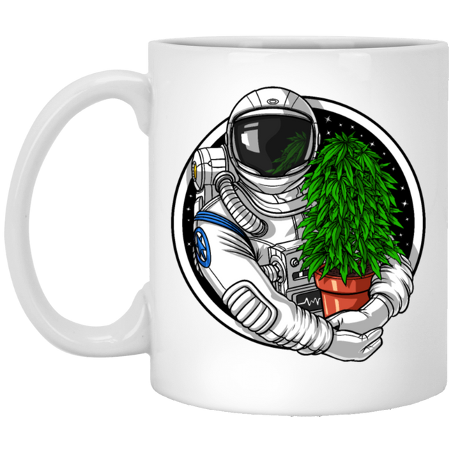 Astronaut Weed Grower White Mug