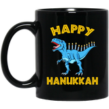 Happy Hanukkah, The Jewish Festival Black Mug