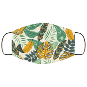 Tropical Leaves Plants-01 3 Layers Face Mask