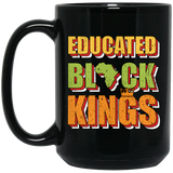 Educated Black King Gift African American Pride Black Mug