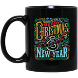 Happy Holidaze, Christmas Black Mug