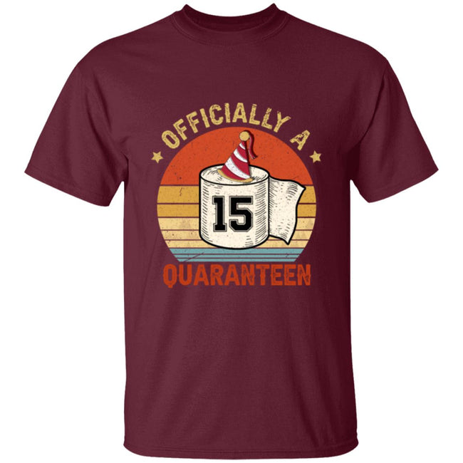 15th Birthday Officially a Quaranteen Teenager Men Collections