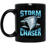 Cute Storm Chaser Severe Weather Tornado Obsessed Black Mug