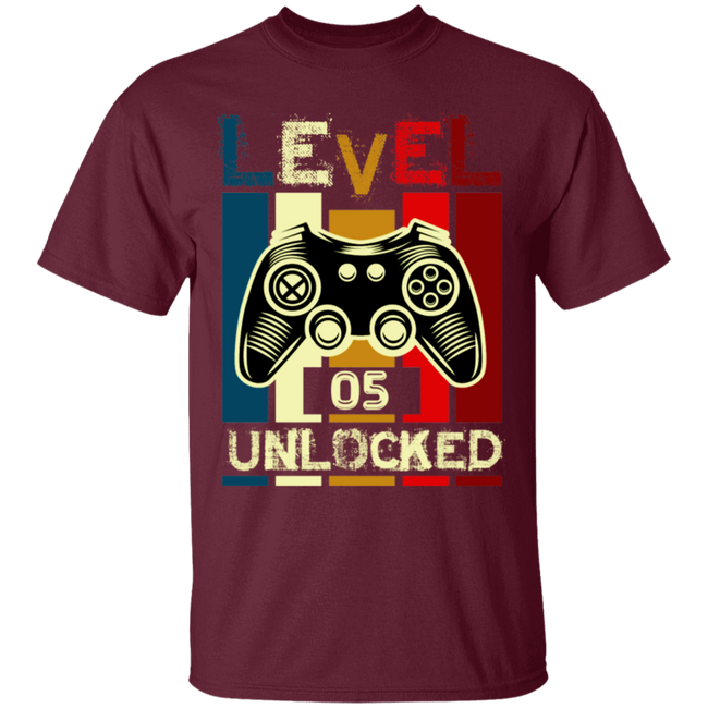 Gamer Tshirt, Level 5 Unlocked