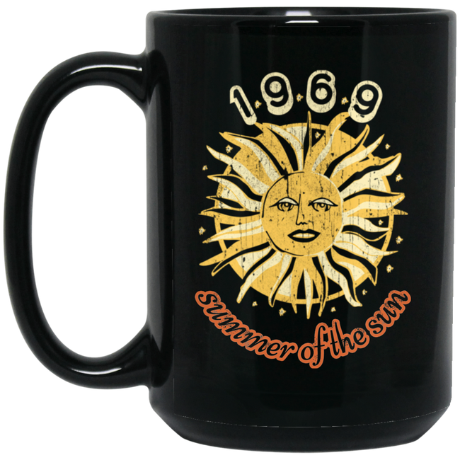 1969 Summer Of The Sun Black Mug