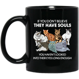 Cats Lovers, Cat Believe Black Mug