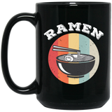 Vintage Ramen Soup Asian Food Lover Black Mug