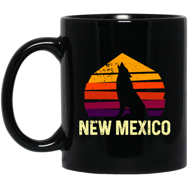Vintage New Mexico Nm Retro Wolf Outdoor
