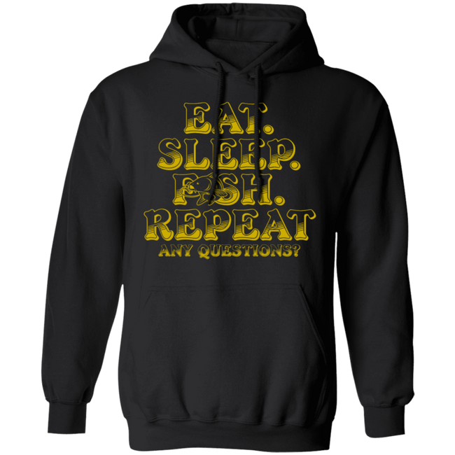 Eat Sleep Fish Repeat Funny Cool Fisherman Fish
