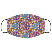 Seamless colored mandala pattern-01 3 Layers Face Mask