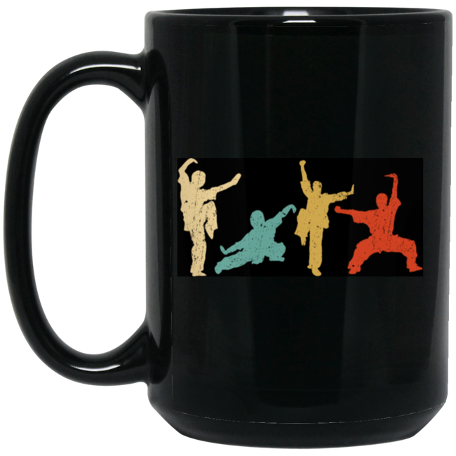 Vintage Wushu Silhouette Fighter Retro GIft