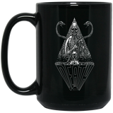Vintage Death XIII Tarot Card Black Mug