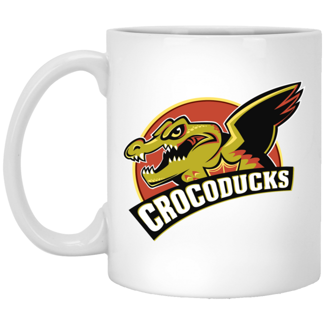 Crocoducks, Funny Crocodile White Mug