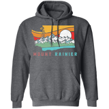 Mount Rainier Washington Outdoors Retro Mountains