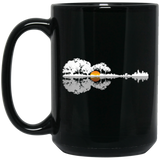 Acoustic Guitar Lake Music, Musician Black Mug