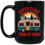 Retro UPPER CLASS TRAILER TRASH Black Mug