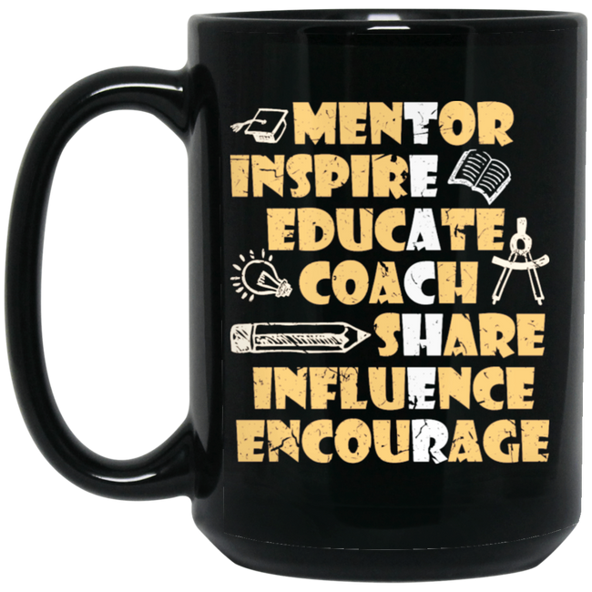 Serious Teacher Words To Describe A Teacher Black Mug