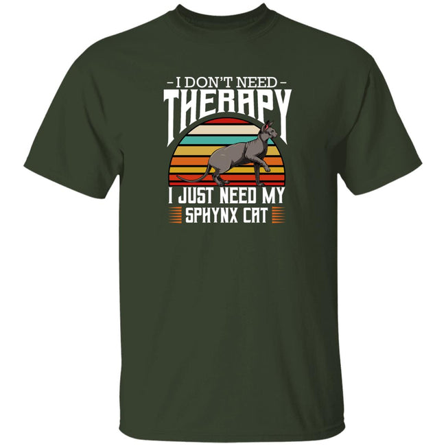 Sphynx Cat I Don't Need Therapy - Retro Style Cats Men Collections
