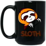 Sloth Sloths Lovers Funny and Cute Black Mug