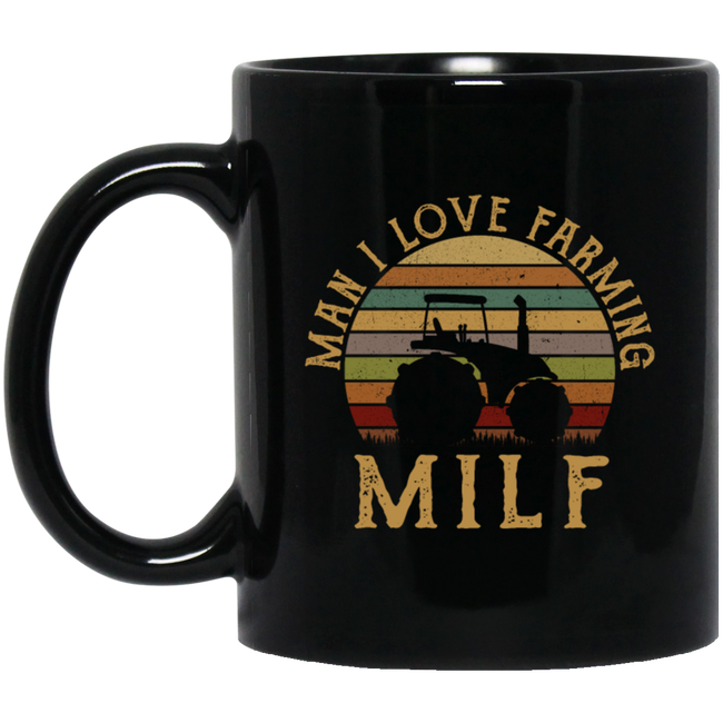 Retro Man I Love Farming Funny Farmer Tractor Lover MILF