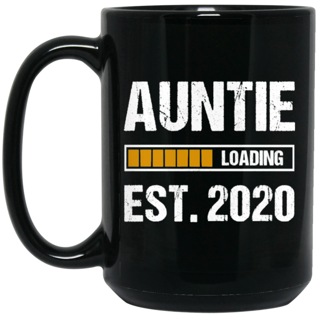Aunt 2020 Quote Funny Auntie Loading Gift Black Mug