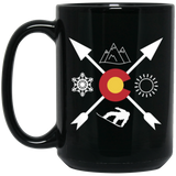Denver Colorado Snowboarding Directional Black Mug