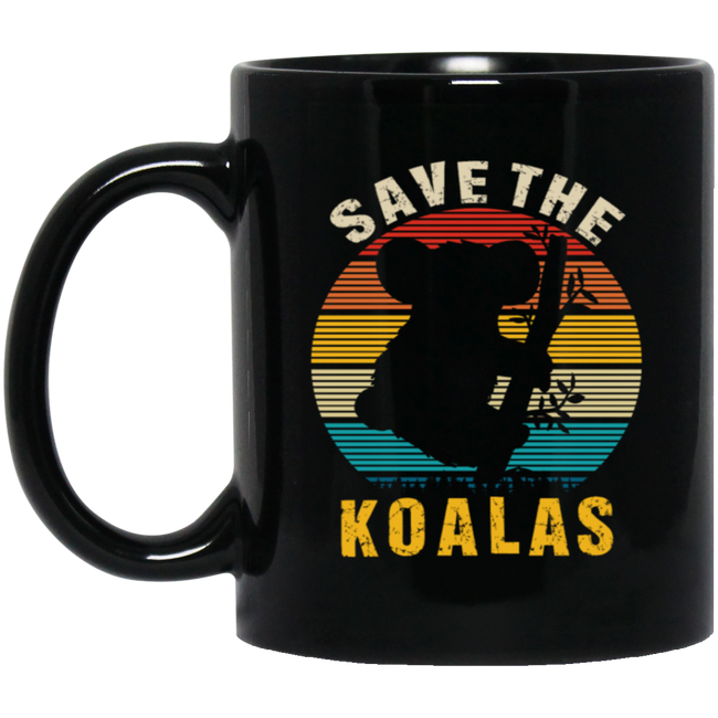 Retro Save The Koalas, Animal Lover Vintage
