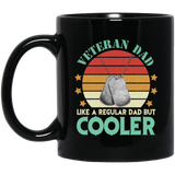 Veteran dad definition, Retro Dad Gift Black Mug