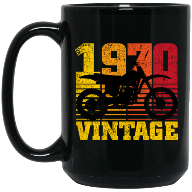 Vintage 1970 Birthday, Motocross Dirt Bike 50th Birthday Gift