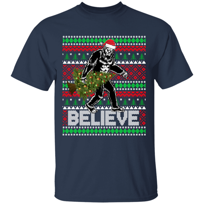 Believe Bigfoot Christmas Ugly