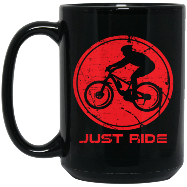 Mountain Biking Is Awesome Black Mug