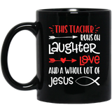 Christian Teacher Run Laughter Love Jesus Quote