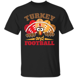 Turkey and Football Thanksgiving Day