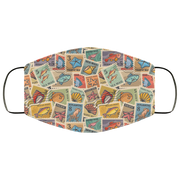 Postage Stamps, Marine Inhabitants 3 Layers Face Mask
