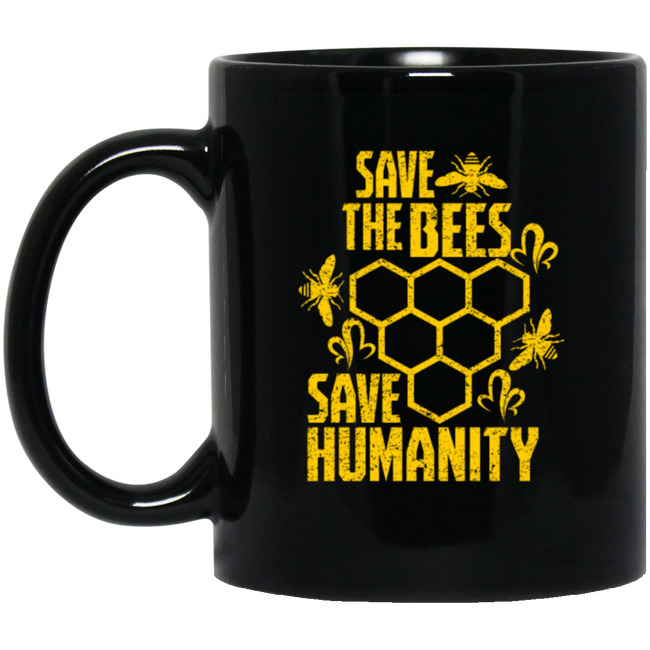 Save The Bee's, Insect, Animal Lovers, Black Mug