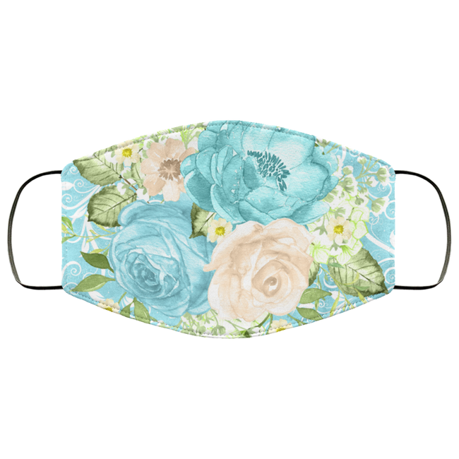 Royal Mint FLowers 3 Layers Face Mask