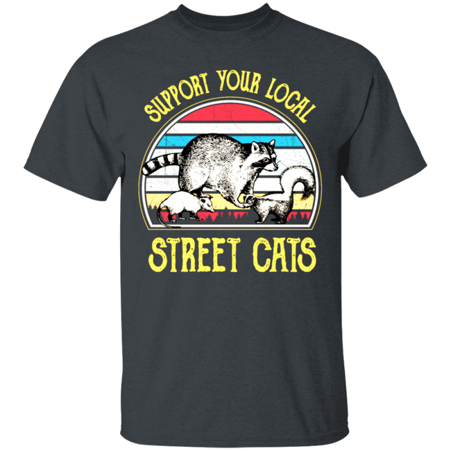 Support Your Local Street Cats Shirt Vintage