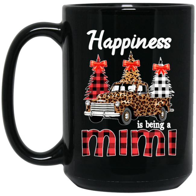 Happiness Is Being A Mimi Black Mug