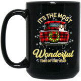 Christmas Its The Most Wonderful Time Of The Year Black Mug